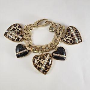 Betsey johnson huge leopard  heart bracelet